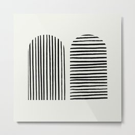Minimal Series - Double Striped Entree  Metal Print