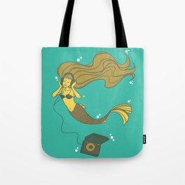 The Vinyl Mermaid Tote Bag