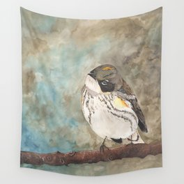 Yellow-rumped Warbler Bird Wall Tapestry
