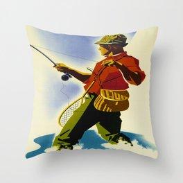 Colorado Fly Fishing Travel Throw Pillow