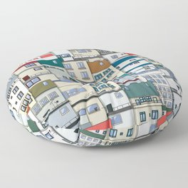 Small Part Of Town Ornament Floor Pillow