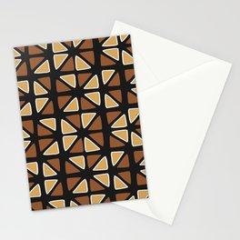 African mud cloth random triangles Stationery Cards