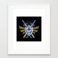 legend of zelda Framed Art Prints featuring Heroes Legend - Zelda by Art & Be
