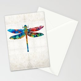 Colorful Dragonfly Art By Sharon Cummings Stationery Cards