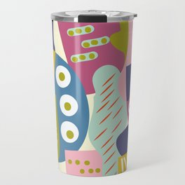 Colourful print Travel Mug