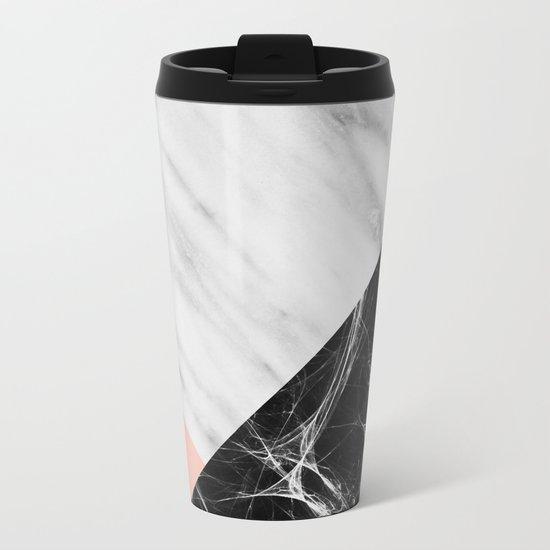 Marble Collage Metal Travel Mug