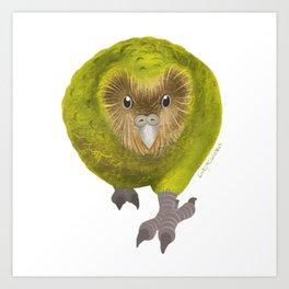 Kakapo Art Print