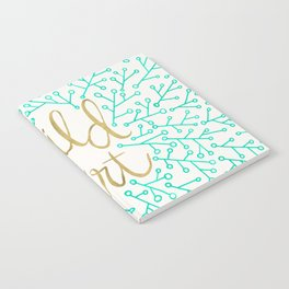 Wild at Heart – Turquoise & Gold Notebook
