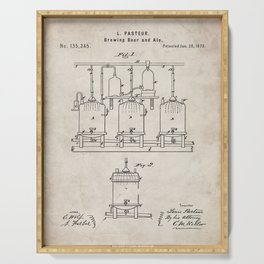 Beer Patent - Brewing Beer Art - Antique Serving Tray