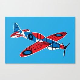 Styrofoam airplane Canvas Print