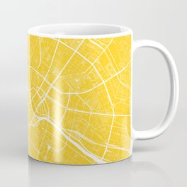 Berlin, Germany, City Map - Yellow Coffee Mug