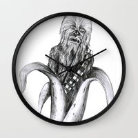 chewbacca Wall Clocks featuring Chewbacca banana by ronnie mcneil