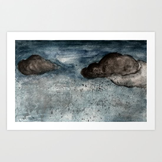 Watercolour: It rained last night in Delhi Art Print