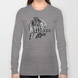 Maui Poly Tribal Distressed Long Sleeve T-shirt