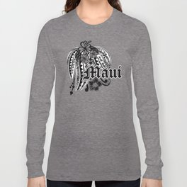 Maui Poly Tribal Distressed Long Sleeve T-shirt