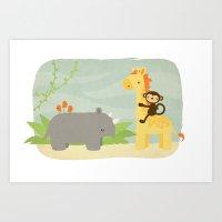 safari Art Prints featuring Safari by Liz Urso