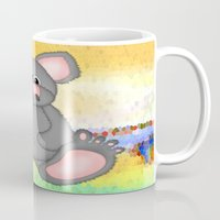 mouse Mugs featuring Mouse by Digital-Art