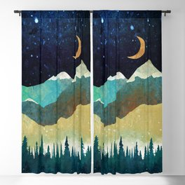 Snowy Night Blackout Curtain