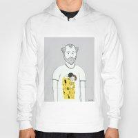 gustav klimt Hoodies featuring Gustav Klimt portrait by Irene LoaL