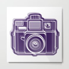 I Still Shoot Film Holga Logo - Deep Purple Metal Print