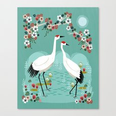 Cranes by Andrea Lauren Canvas Print