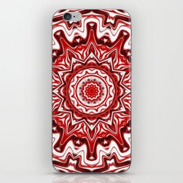 Red and White Kaleidoscope iPhone Skin