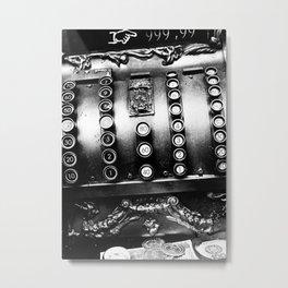 Old cash box Metal Print