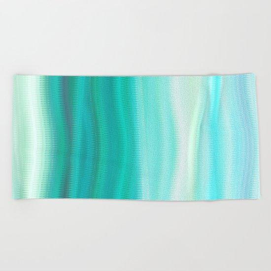 Green Mirage Beach Towel