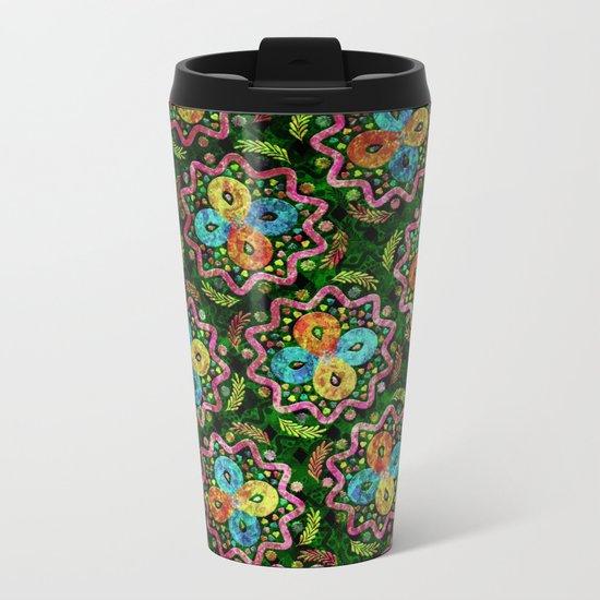 Flower Pattern XIX Metal Travel Mug