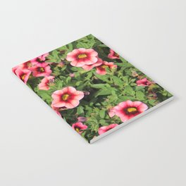 Red Pink Flowers Notebook