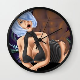 Bend me over the couch daddy Wall Clock