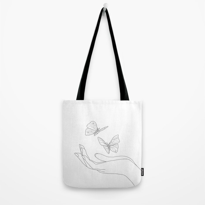 Butterflies on the Palm of the Hand Tote Bag