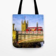 Lambeth Bridge and Westminster Art Tote Bag