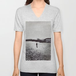 Low Tide, Bay of Fundy Unisex V-Neck