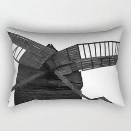 Wooden Windmill Rectangular Pillow