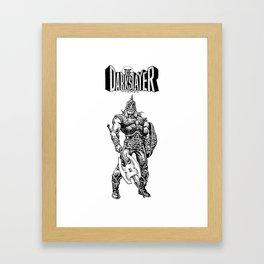 The Darkslayer, Black and White Framed Art Print