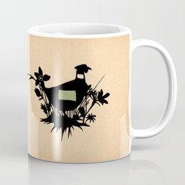 South Dakota - State Papercut Print Coffee Mug