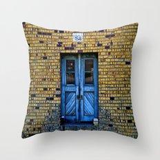Blue Door 64 Throw Pillow