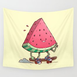 Watermelon Slice Skater Wall Tapestry