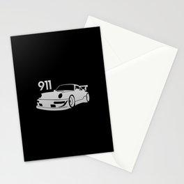 Porsche 911 - silver - Stationery Cards