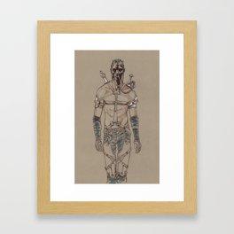 Post Apocalyptic Warrior Framed Art Print