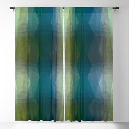 Minimalist Maximalist, batik tie dye abstract free style painting, turquoise, grey, gray, green, beige, brown, green gold, charcoal Blackout Curtain