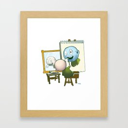 Baby Norman Zombiewell Framed Art Print