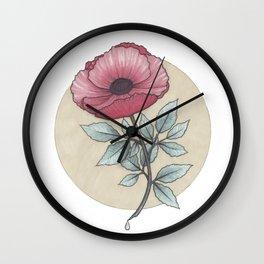 Flower by Sophia H. Wall Clock