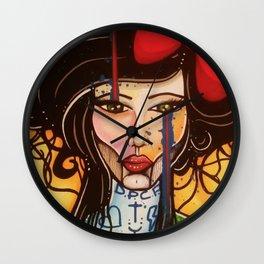 Crying Lady Wall Clock
