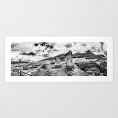 Drumheller Hoodoos Art Print
