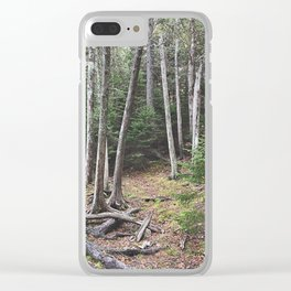 Maine Woods Clear iPhone Case
