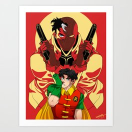 Sidekick to Hero: Red Hood Art Print