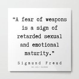 43 |   Sigmund Freud Quotes | 190926 Metal Print