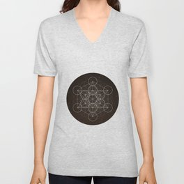 Metatrons Cube Is Out Of Space Unisex V-Neck